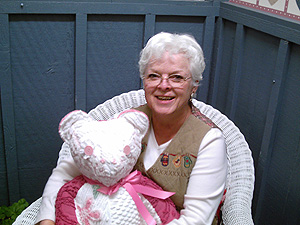 Judy Marben with her favorite bear